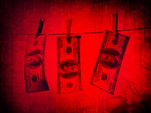 Money laundering. Picture in retro style Royalty Free Stock Image