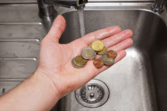 Money laundering: a comic view on the situation with the underwo Royalty Free Stock Photography