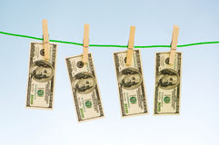 Money laundering concept Royalty Free Stock Images