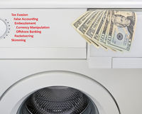 Money laundering concept Royalty Free Stock Photo