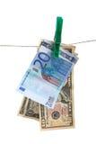 Money laundering concept. isolated on white Royalty Free Stock Photo