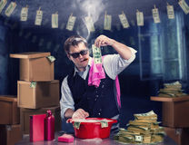 Money laundering Royalty Free Stock Photos