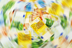 Money laundering. Euro European currency Royalty Free Stock Photos