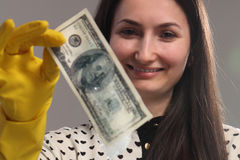 Money laundering (illegal cash, dollars bill, shady money, corru. Woman launder shady money (illegal cash, dollars bill, corruption, manipulation stock images