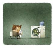 Money laundering illustration Stock Image