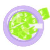 Money laundering in washing machine illustration Stock Photography