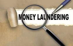 MONEY LAUNDERING Royalty Free Stock Images