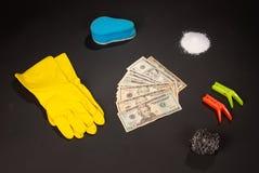 Money laundery kit Stock Photo