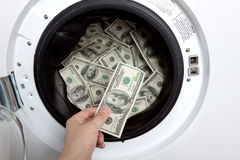 Money laundry Stock Image