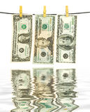 Money laundry Royalty Free Stock Images