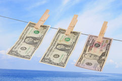 Money laundry. Concept Royalty Free Stock Photos