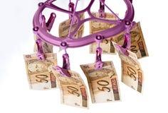 Money Laundry hanging fifty Royalty Free Stock Image
