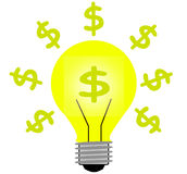 Money light idea Royalty Free Stock Images