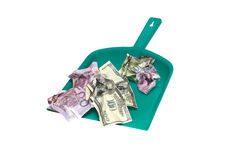 Money Like A Garbage Stock Photography