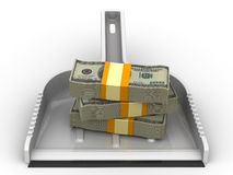 Money like garbage. Financial concept of devaluation Stock Images