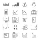 Money line  icon set Royalty Free Stock Photography
