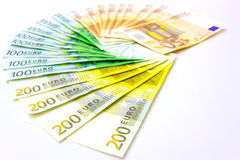 Money. Lined like a fan, photography Royalty Free Stock Photos
