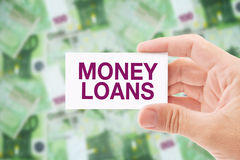 Money Loan in Euro Banknotes Royalty Free Stock Image
