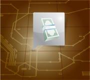 Money locator on a map. illustration design Stock Photography