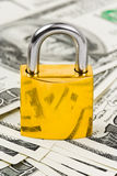 Money and lock Royalty Free Stock Photography