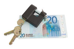 Money and lock Stock Photo