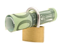 Money within a Lock royalty free stock images