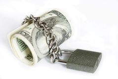Money in lock Stock Images