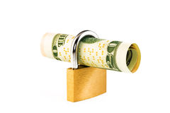 Money in a lock Stock Photo
