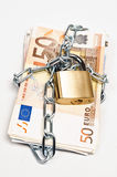 Money locked Stock Image