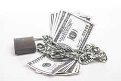 Money locked Stock Photos
