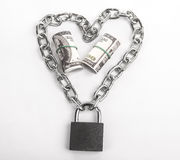 Money locked Stock Images