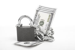 Money locked Royalty Free Stock Photo