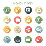 Money long shadow icons Stock Image