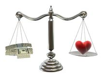 Money or love Royalty Free Stock Photo