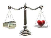 Money or love royalty free illustration