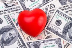 Money love Royalty Free Stock Photos