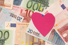 Money and love Royalty Free Stock Images