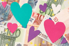 Money and love Royalty Free Stock Photos
