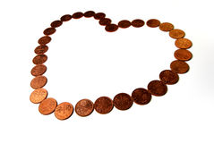 Money Love Valentine royalty free stock images