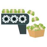 Money machine icon Stock Images