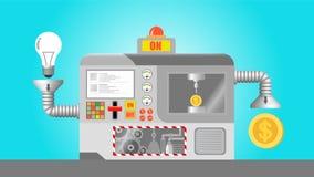 Money Machine With Ideas Stock Photo