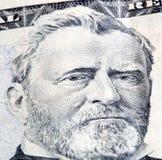 Money. Macro shot of the $50, focus on left eye Royalty Free Stock Image