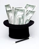 Money by magic art Stock Photography