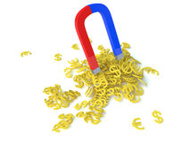 Money magnet. For a background image Stock Photography