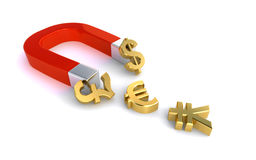 Money magnet Stock Photo