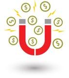 Money magnet coin stock illustration
