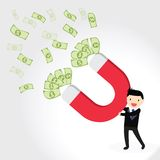 Money Magnet Concept Stock Photos