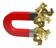 Money magnet Royalty Free Stock Images
