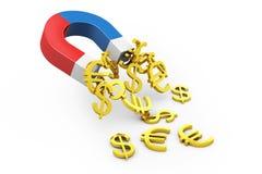 Money magnet stock illustration