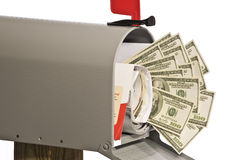 Money In The Mailbox Royalty Free Stock Photo